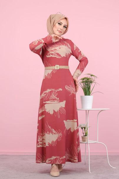 Çiçekli Elbise Gül - 3068