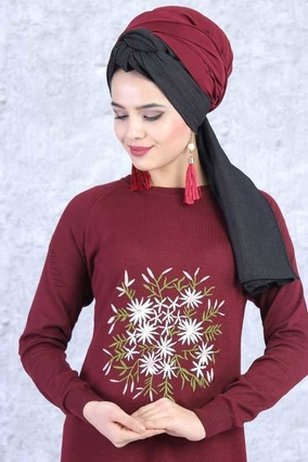 TOFİSA - Triko Tunik - Bordo 02 6211 (1)
