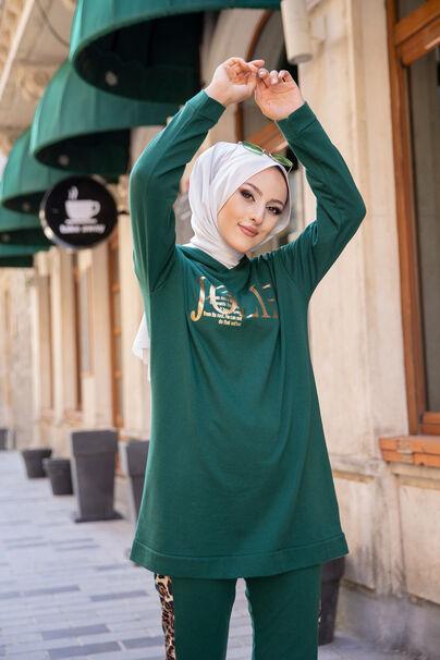 Tunik Pantolon Koyu Yeşil - 8328