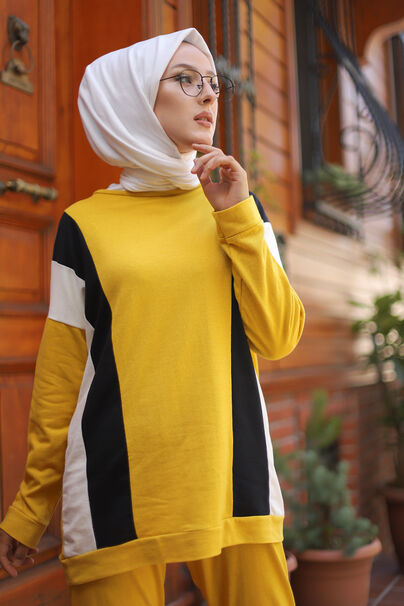 Tunik Pantolon Sarı - 3097