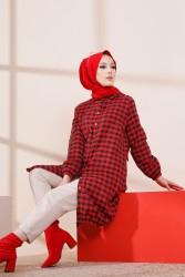 Tunik Siyah Kırmızı - 3294